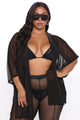 Slip Drip Swim Cover Up - Black