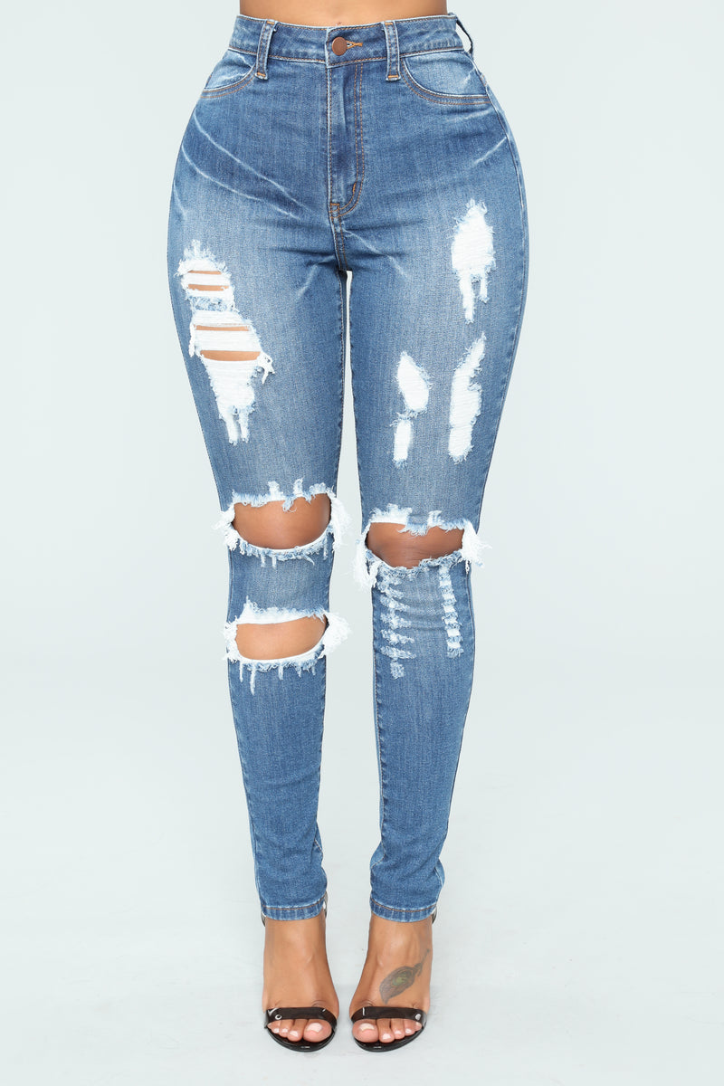 Malli Skinny Jeans - Medium Blue Wash