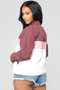 Two Can Play That Game Jacket - Plum/combo