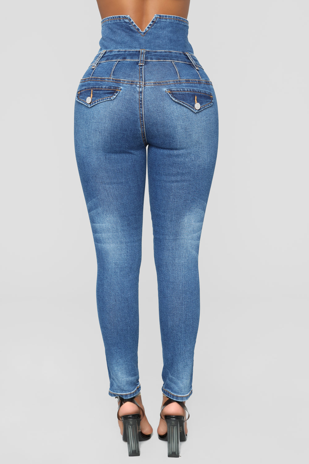 Stacks On Stacks Ankle Jeans - Dark Denim