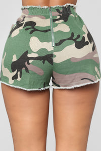Bring Your Top Game Shorts - Olive