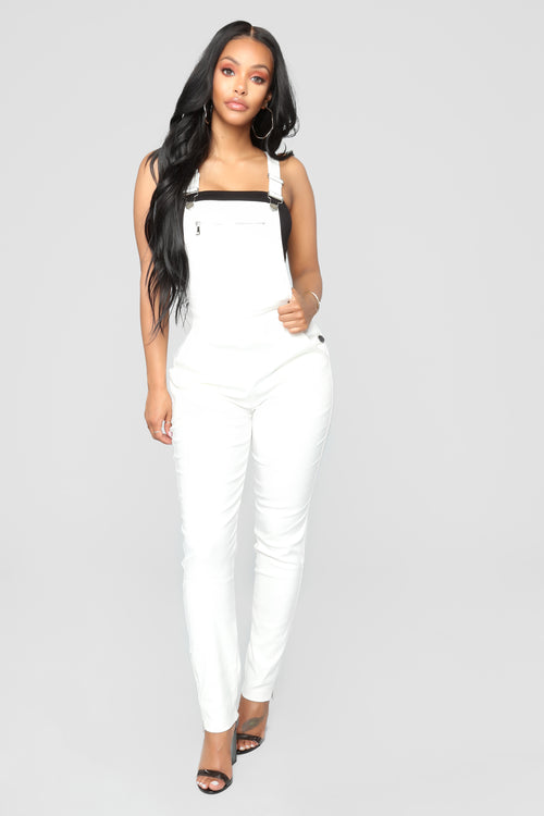 Aviva Overall Jumpsuit - Off White