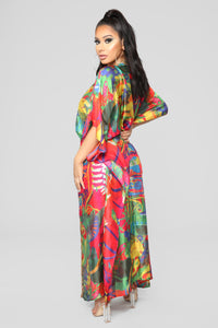 Caribbean Nights Covered Kimono - Multi