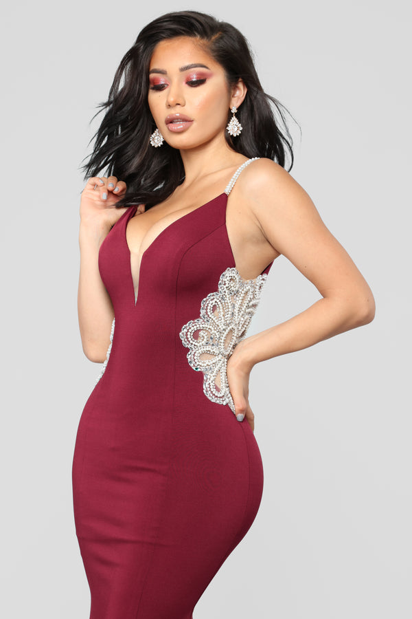 7d761acba144 Imperial Beading Dress - Wine