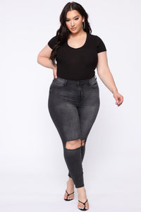 All For You High Rise Jeans - Black Angle 8