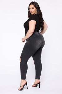 All For You High Rise Jeans - Black Angle 7