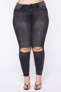 All For You High Rise Jeans - Black Angle 9