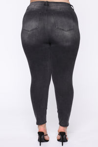 All For You High Rise Jeans - Black Angle 11