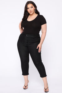 Chelsea High Rise Mom Jeans - Black Angle 9