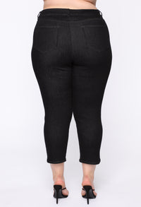 Chelsea High Rise Mom Jeans - Black Angle 11
