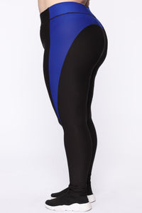 Peach Perfect Premium Active Leggings - Black/Royal