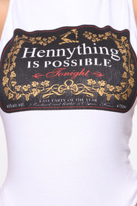 Anything Is Possible Sleeveless Bodysuit - White