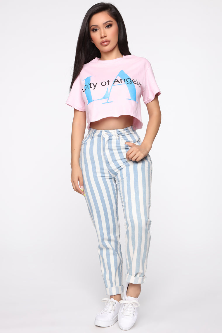 City Of Angels Crop Top - Pink