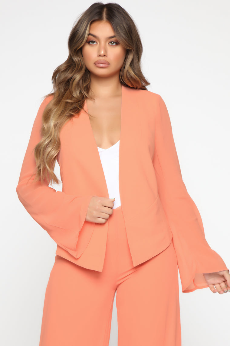 Back To Reality Suit Set - Coral