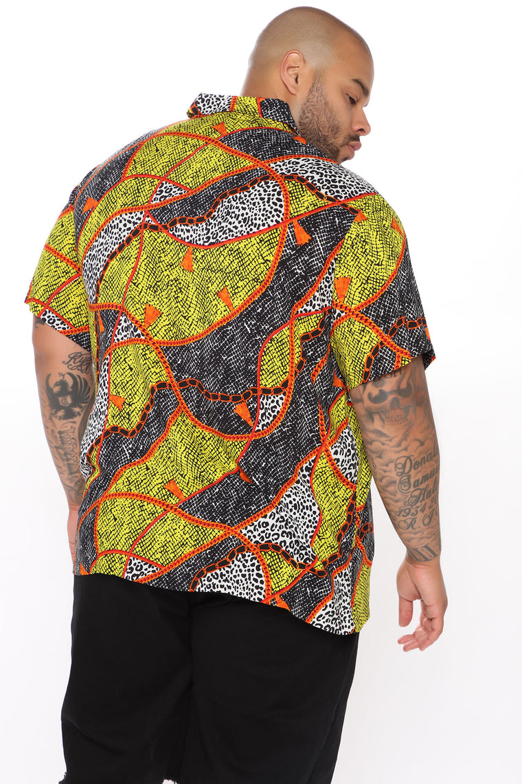 Don't Chase Short Sleeve Woven Top - Multi Color