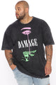 Damage Dreams Short Sleeve Tee - Black