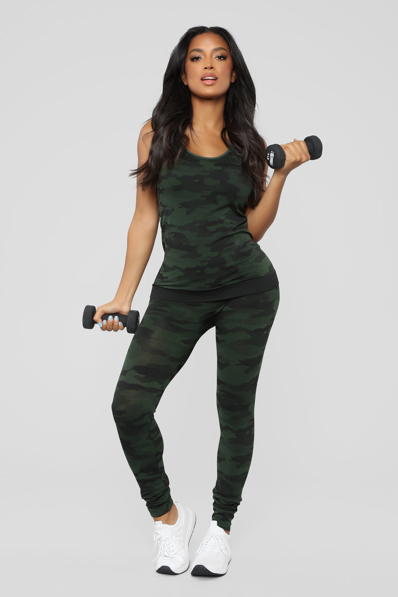 Recruitable Camo Active Set - Olive