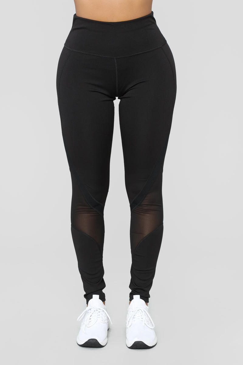See Thru Obstacles Active Leggings - Black