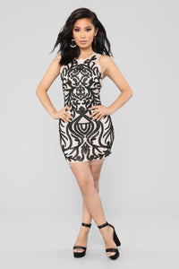 Your One And Only Mini Dress - Black/Nude