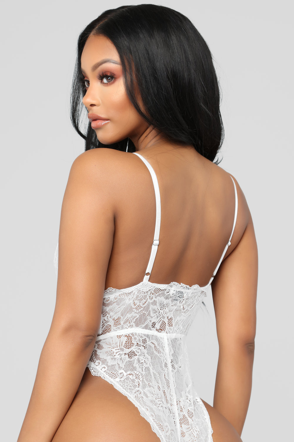 Adore Me Lace Teddy - White