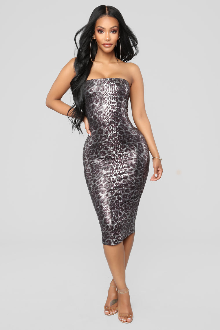 Animalistic Vibes Dress - Purple