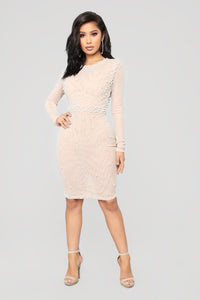 Break The Rules Dress - Nude