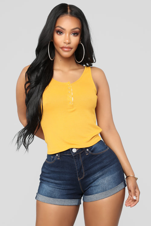 Snap And Go Tank - Mustard
