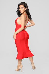 Salty Over You Mermaid Dress - Red