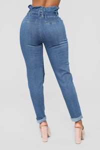 Sign Of The Times Ankle Jeans - Dark wash