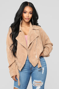 Keep It Together Moto Jacket - Camel
