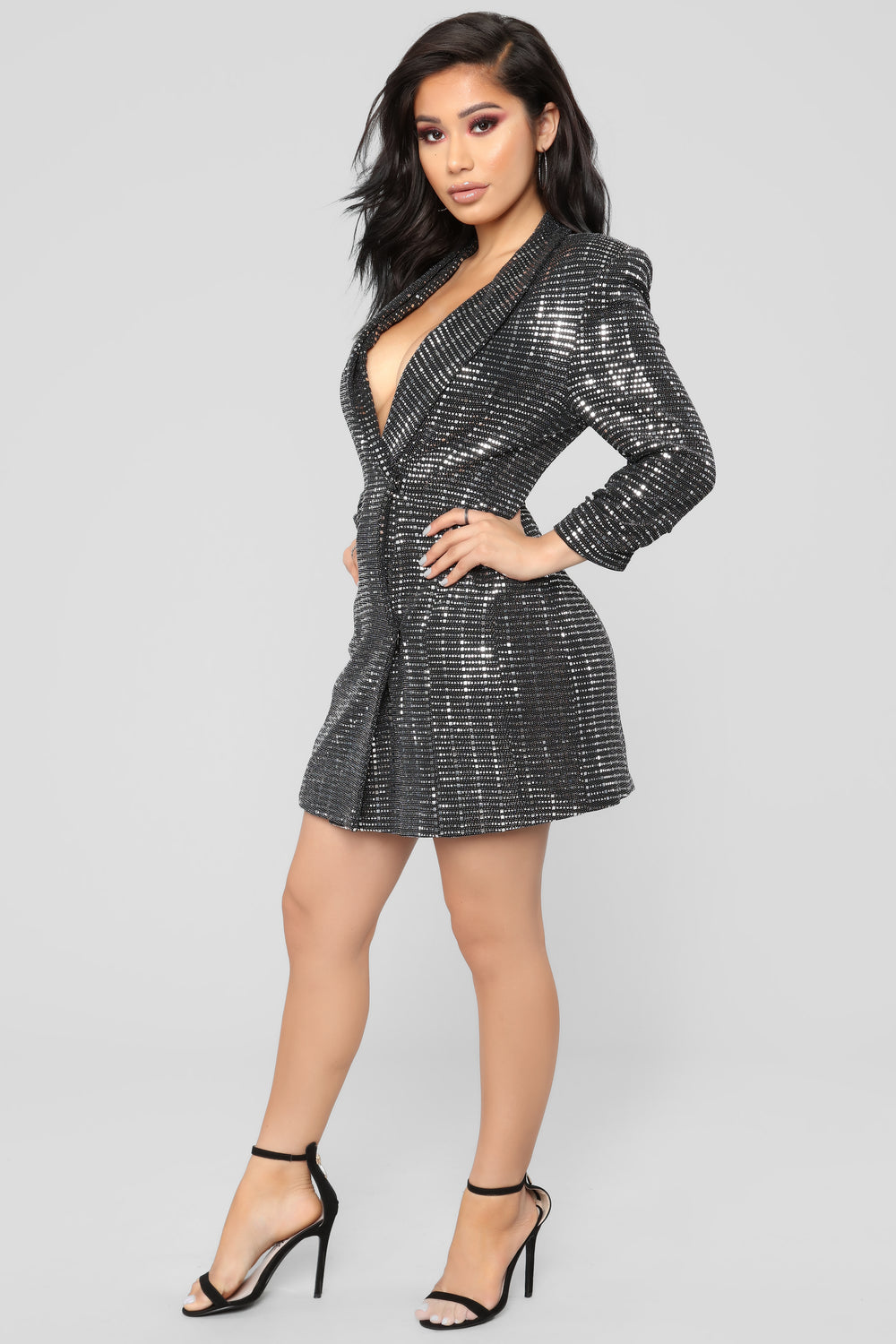 Dying To Know My Name Dress - Silver