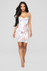 Stormy Winds Mesh Dress - Multi