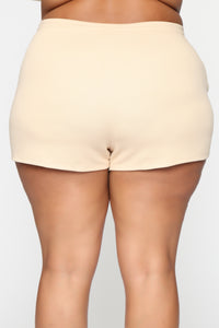 Made A Deal Lounge Shorts - Tan Angle 11