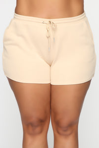 Made A Deal Lounge Shorts - Tan Angle 8