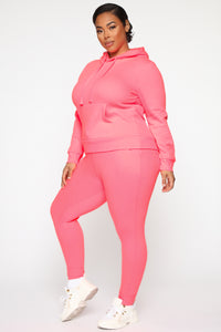 Relaxed Vibe Jogger II - Neon Pink Angle 8