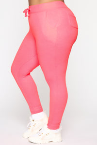 Relaxed Vibe Jogger II - Neon Pink Angle 7