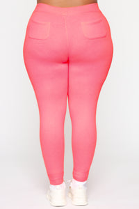 Relaxed Vibe Jogger II - Neon Pink Angle 9