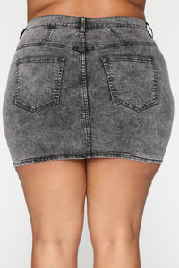 Bring It Denim Skirt - Acid Wash