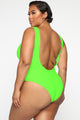 Get Over It Babe Swimsuit - Neon Green