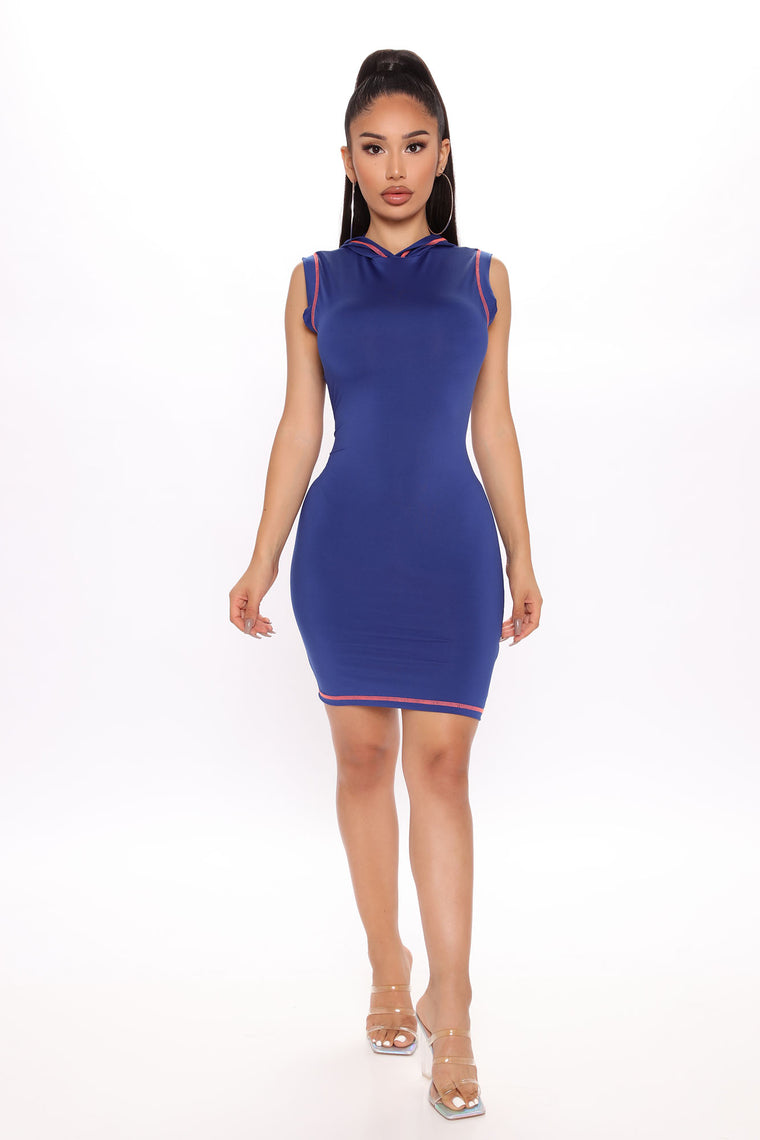 Spice It Up Mini Dress - Royal/combo