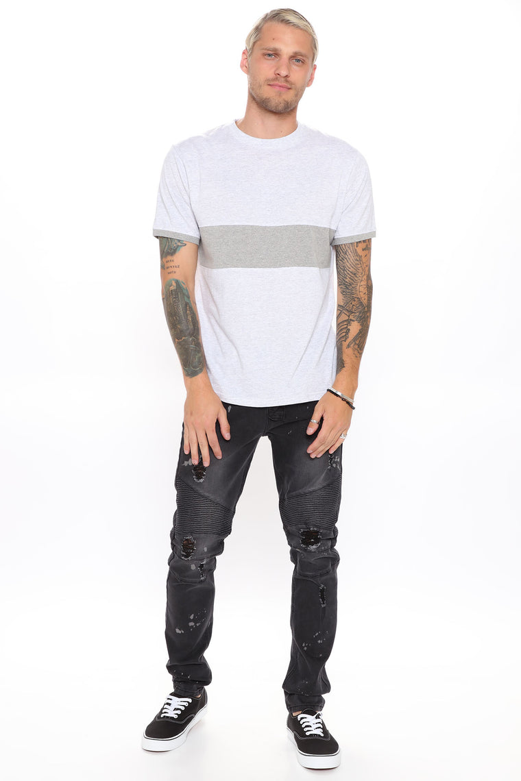 Take It In Stride Short Sleeve Tee - Heathered Grey