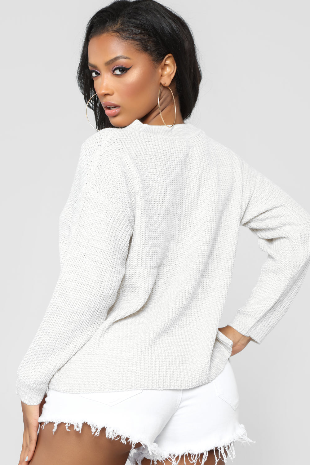 Do It Again Sweater - Silver