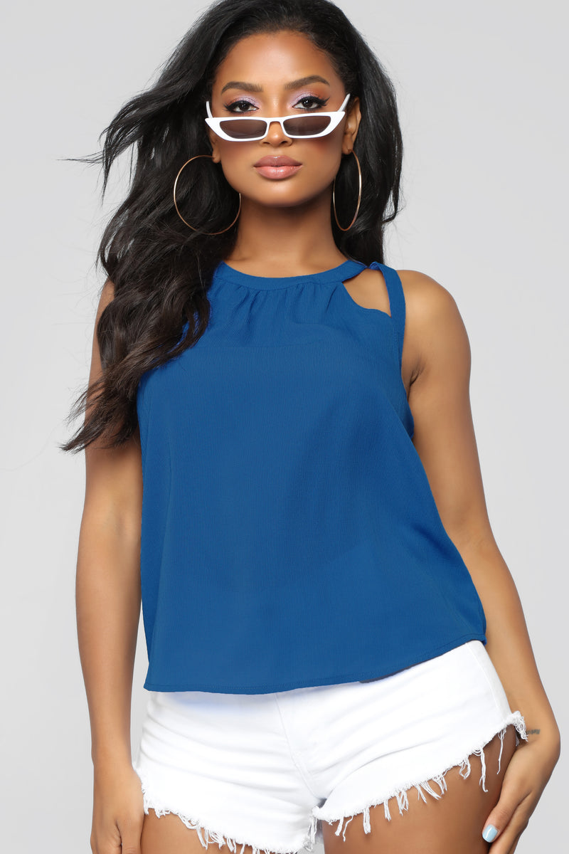 Essential Cut Out Tank - Royal