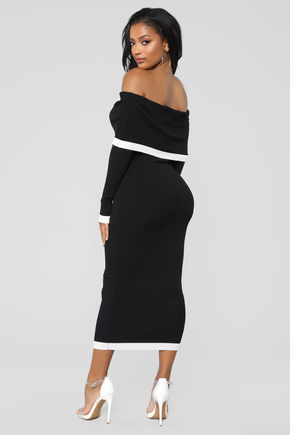Will You Be Mine Dress - Black/Off White