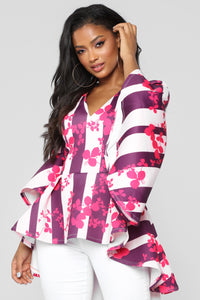 Wanna Dance High Low Top - Fuchsia