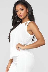 Essential Cut Out Tank - White