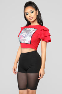 Every King Needs A Queen Top - Red