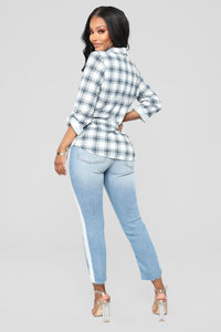 On The Flip Side High Rise Jeans - Light Blue Wash