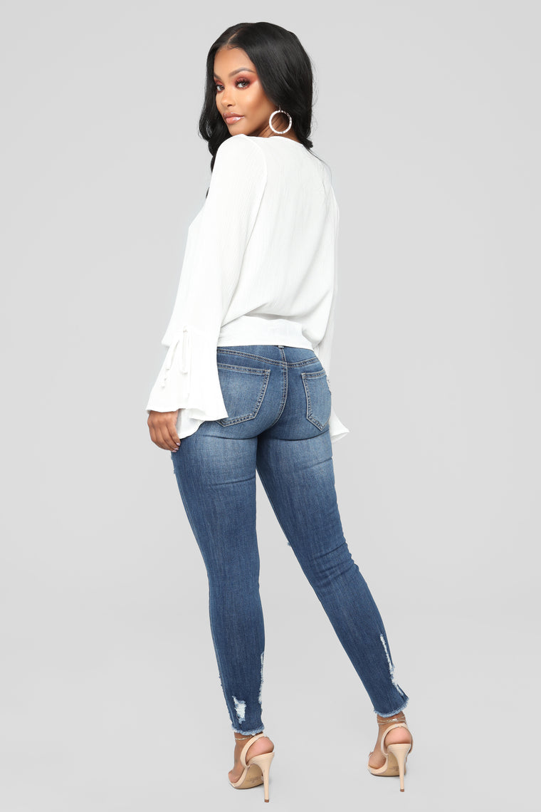 Double Dutch Skinny Jeans - Vintage Blue Wash