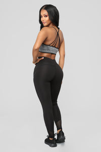 Love To Run Active Leggings - Black